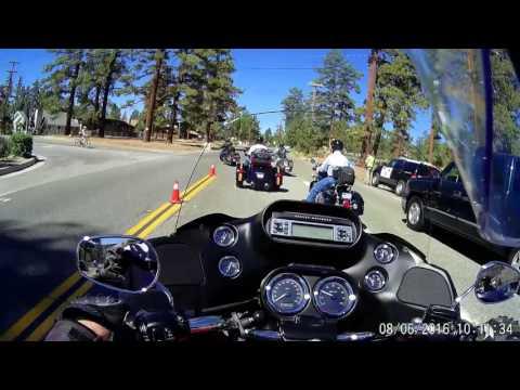 Riding with friends through the San Bernardino Mountains