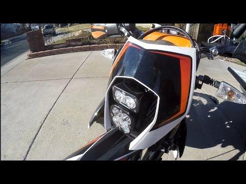 Ktm 690r Enduro Led Headlamp Kit Install Motominded