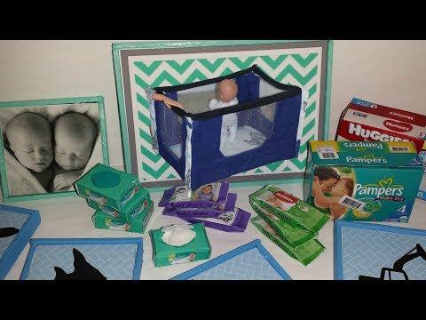 5 DIY Baby Miniatures } Playpen, Baby Wipes, etc {