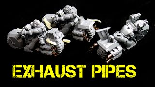 How to Create Exhaust Pipes for Space Marine Bikes