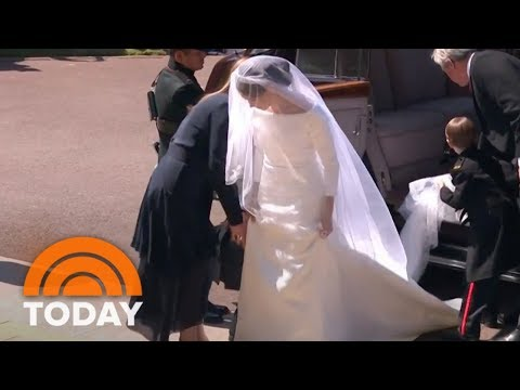 Royal Wedding: Meghan Markle Makes First Appearance In Wedding Gown  TODAY