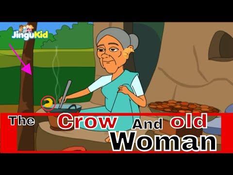 The Crow and The Old Woman  Marathi  कावळा आणि म्हातारी  आजीबाईच्या गोष्टी  Kids Moral Story