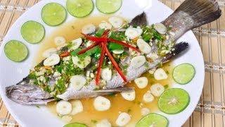 [thai Food] Steamed Sea Bass With Lemon Sauce (pla Kra Pong Neung Ma Nao)