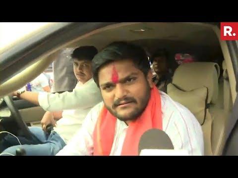 Hardik Patels Speaks To Republic TV Amidst Roadshow In Ahmedabad