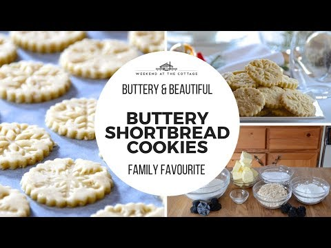BUTTERY SHORTBREAD COOKIES! Made with Rolled Oats