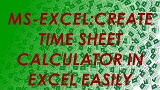 hour sheet calculator