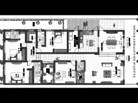 Planos de casa terreno 10 x 20 youtube for Casas modernas 10 x 20