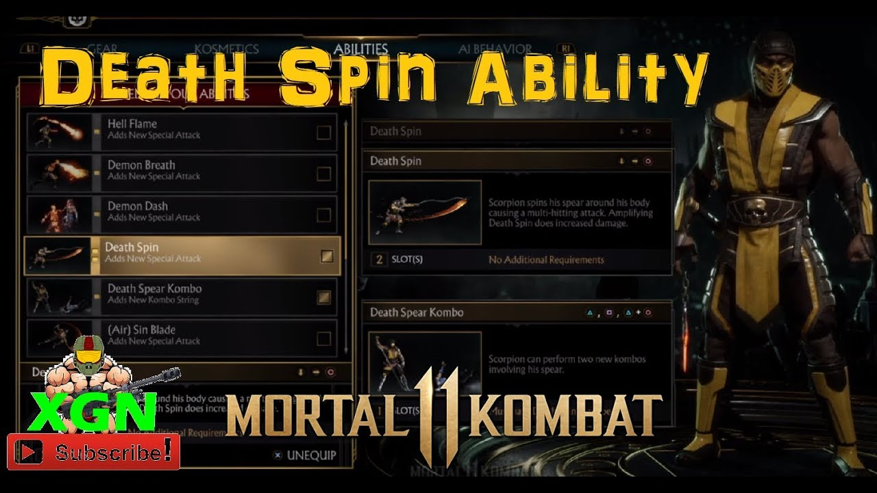 Mortal Kombat 11 Beta Scorpion Death Spear Kombo And Death Spin