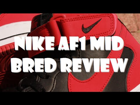 super popular 9ea08 68b85 Nike Air Force 1 Mid Bred Review + On Feet - SNEAKER TALK