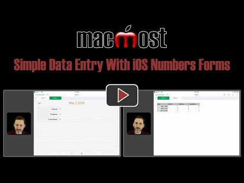 Simple Data Entry With IOS Numbers Forms (#1660)