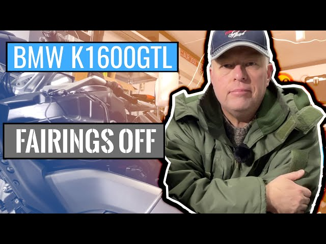 BMW K1600GTL Fairings Off Part 1