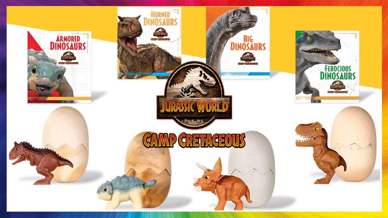 Jurassic  World CAMP CRETACEOUS Happy Meal Toys - JuguetesYSorpresas
