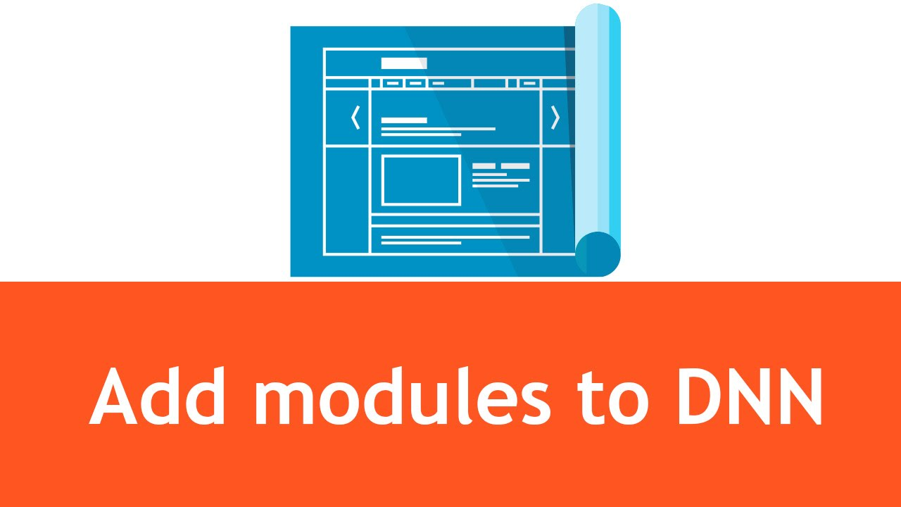 DNN Tutorials - How to add modules and text to a page in DNN - YouTube