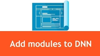 dnn tutorials how to add modules and text to a page in dnn