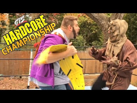 GRIM FIGHTS CREEPY SCARECROW IN CHAMPIONSHIP WRESTLING MATCH!