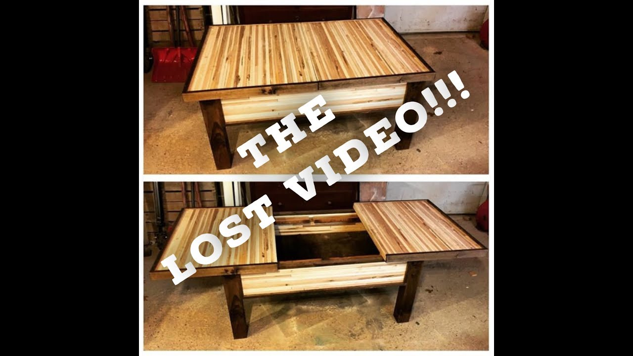 Sliding Top Coffee Table   The Lost Video   (From Izzy Swanu0027s Furniture  Design Challenge)