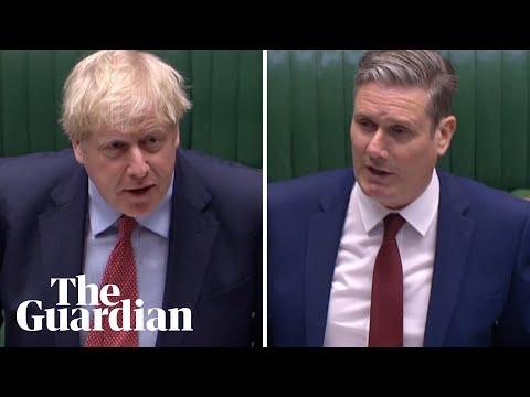 PMQs: Boris Johnson and Keir Starmer clash over care homes