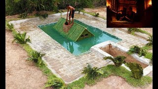 Build Most Awesome Secret Underwater House & Underground Secret Way  (Full)