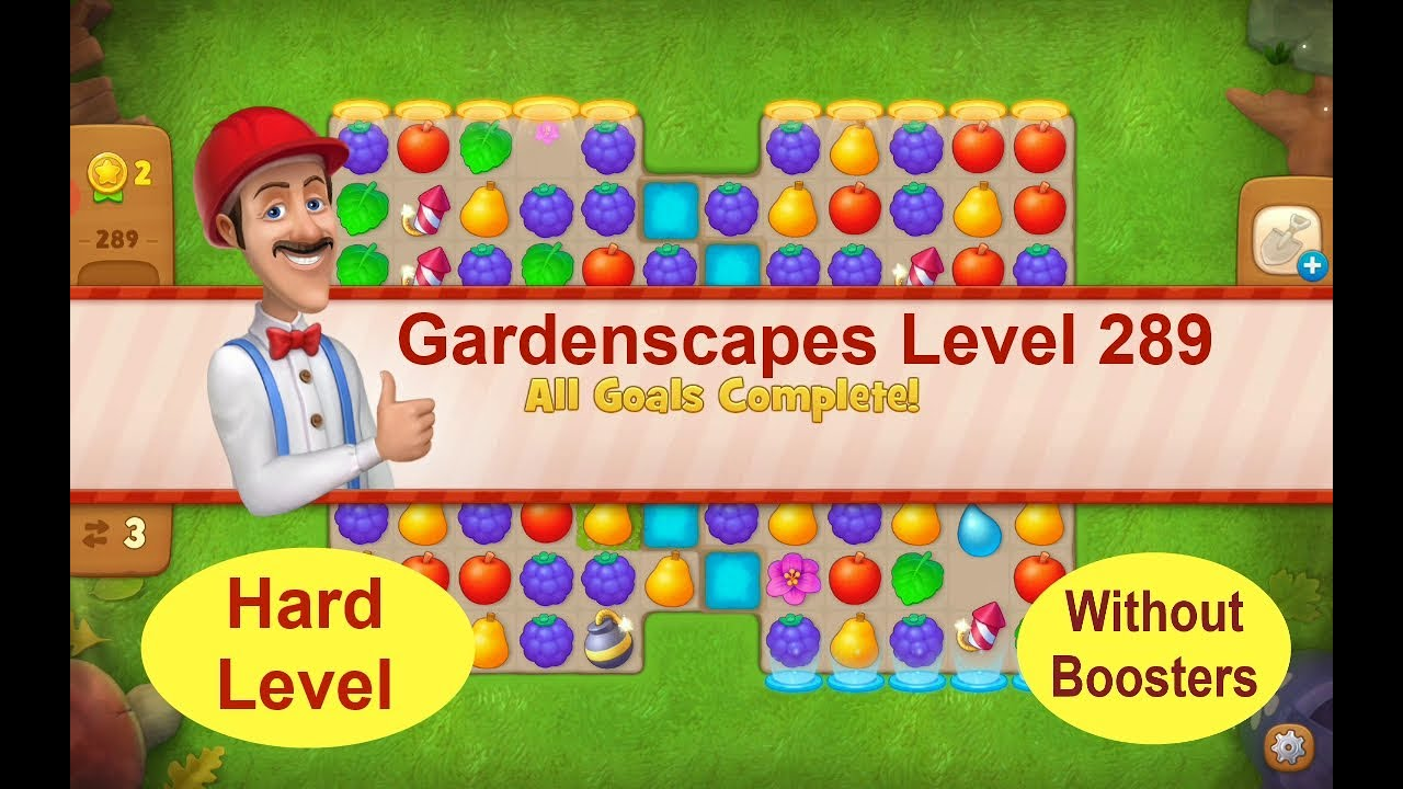 Download Gardenscapes Level 289  - [2020][No Boosters] solution of Level 289 on Gardenscapes [Hard Level]