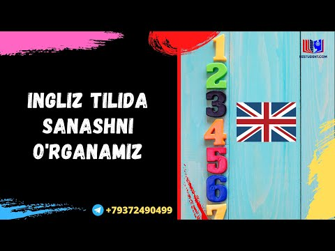 INGLIZ TILIDA SANASHNI O'RGANAMIZ!!!