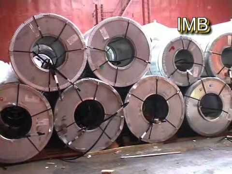 Discharge Of Steel Coils At Barcelona Port / Marine Surveyors Barcelona