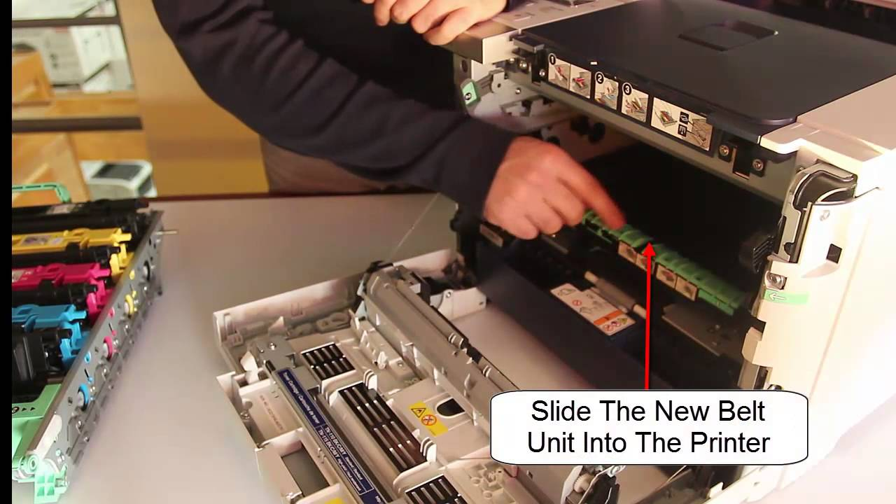 Color printing bu - How To Replace Brother Belt Unit Bu100cl In Brother Hl4040 Or Similar Models