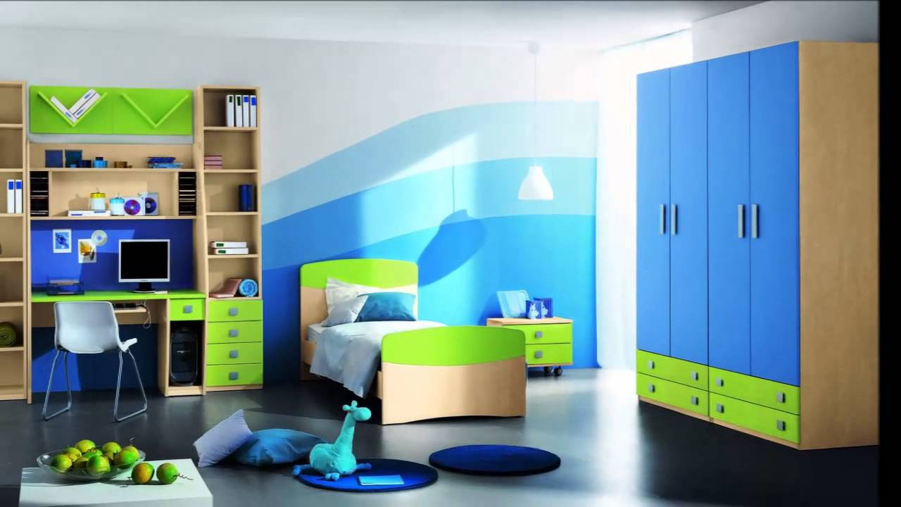 kinderzimmer mit dachschr ge f r jungen youtube. Black Bedroom Furniture Sets. Home Design Ideas