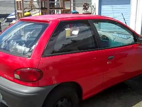 Jeffs geo metro red 1996 3 cylinder 5 speed youtube jeffs geo metro red 1996 3 cylinder 5 speed sciox Choice Image
