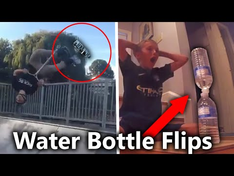 TOP 5 LUCKIEST WATER BOTTLE FLIPS OF ALL TIME ( Impossible Trick shots )
