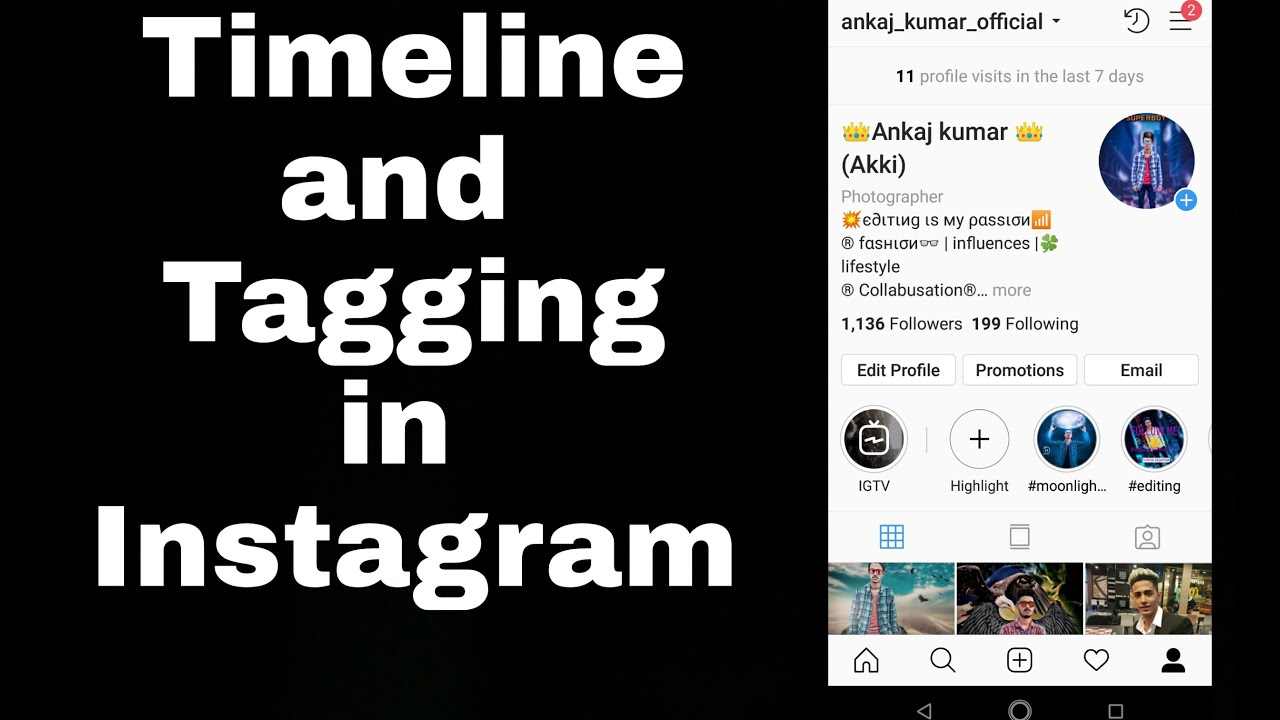 Timeline and Tagging setting  In Instagram