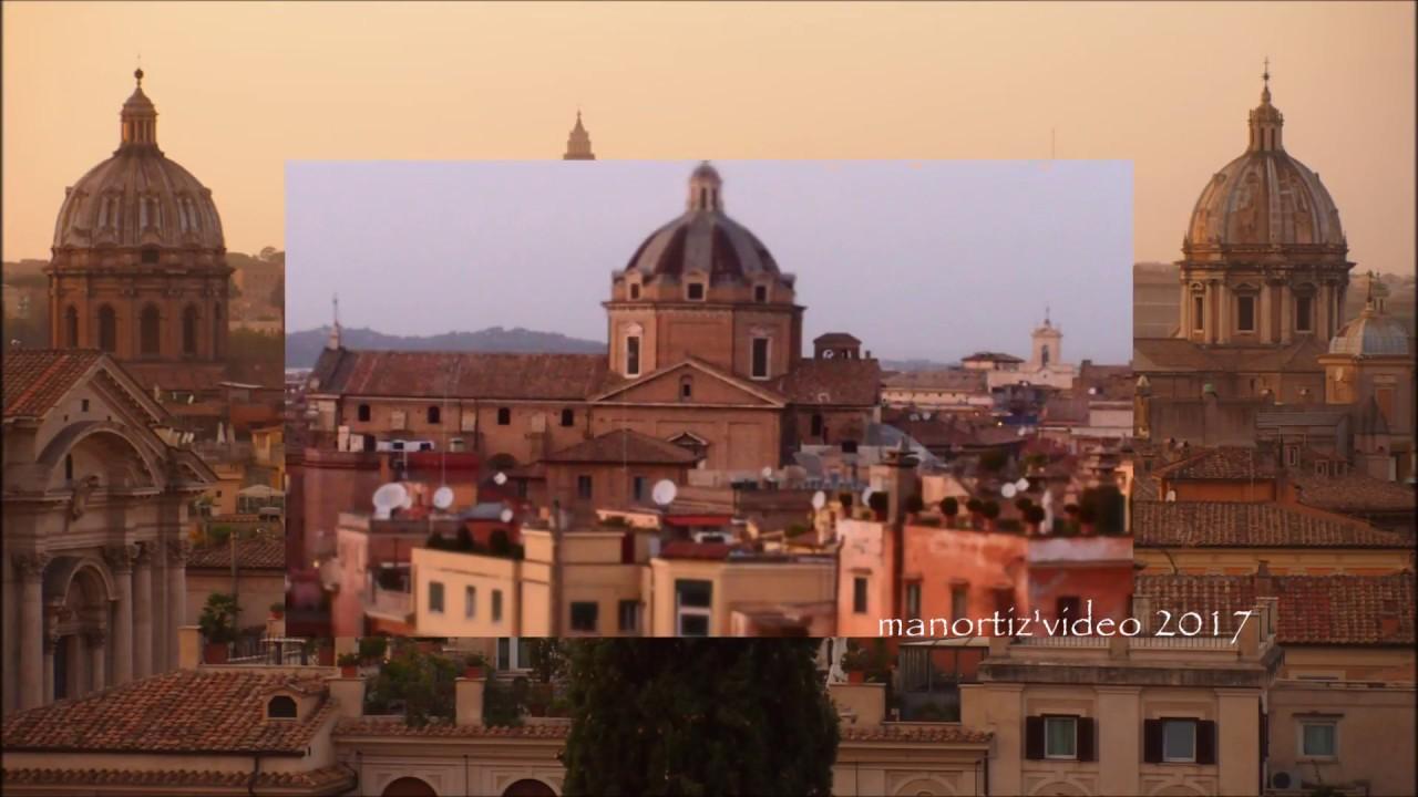 Roma Tramonto Dalla Terrazza Caffarelli Manortiz