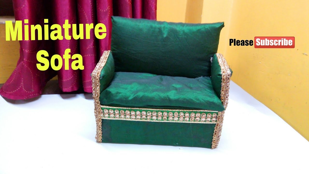 How to make miniature sofa at home | how to recycle waste toothpaste box