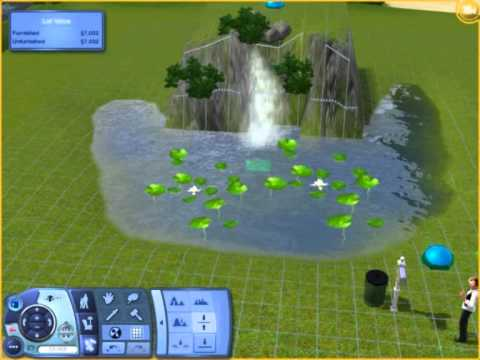 How To Make A Realistic Waterfall In The Sims 3 Youtube