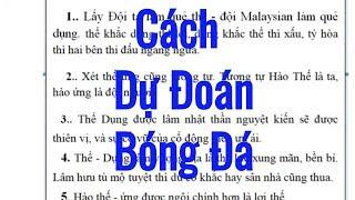 Dự Đoán bóng đá theo Kinh Dịch    Học Kinh Dịch Luận Quẻ Dịch Kết Quả Bóng Đá - VFF Cub 2019 vietnam