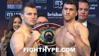 JEFF HORN VS. GARY CORCORAN WEIGH-IN AND FINAL FACE OFF
