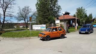 Zlot Fiata 126p Łagów 2018. Początek Parady