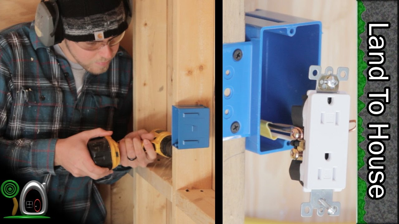 Install Electrical Part 1 - Build a Workshop #21 - YouTube