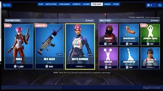 NEW SKIN FORTNITE MIKA, BRITE BOMER, BRITE GUNNER, HEX WAVE, BURNOUNT,