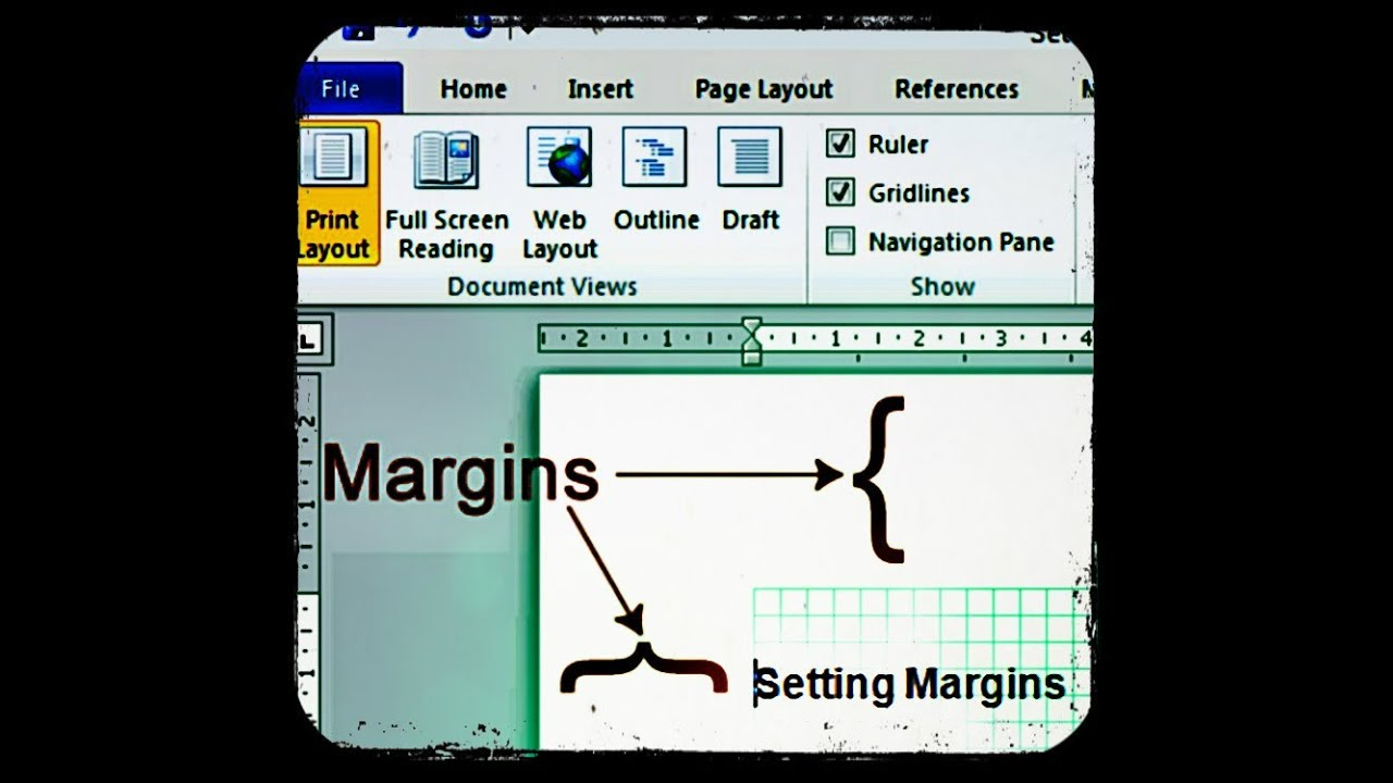 How To Change Margins In Microsoft Word 2010 Youtube