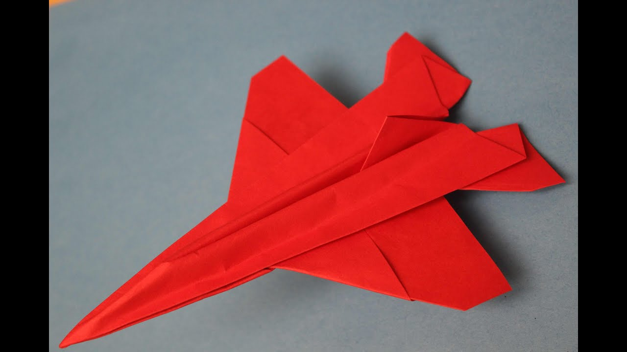 How To Make A Cool Paper Plane Origami Instruction