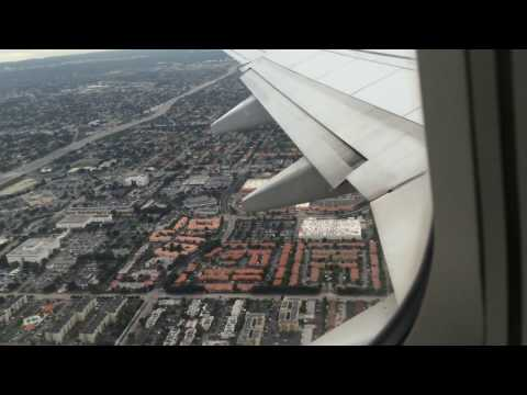 American Airlines (new 737-800) Miami to Guatemala complete video