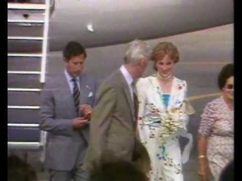 Prince Charles And Princess Diana Arrive In Gibraltar For