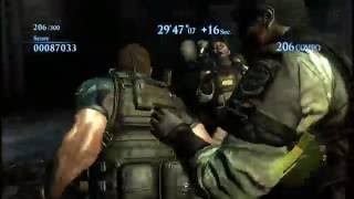 Resident Evil 6 The Mercenaries No Mercy Solo PC Rooftop Mission 2781k