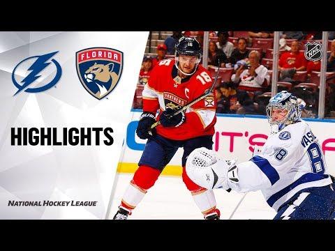 NHL Highlights   Lightning @ Panthers 12/10/19