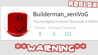 THESE ACCOUNT ARE BACK TAKING OVER ROBLOX **WARNING**