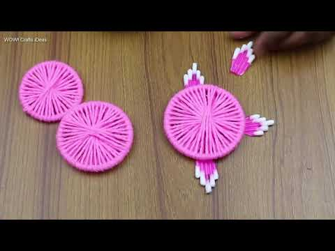 Home Decor Ideas || How To Make Beautiful Door/Wall Hanging Toran - Woolen Craft Idea - DIY Crafts
