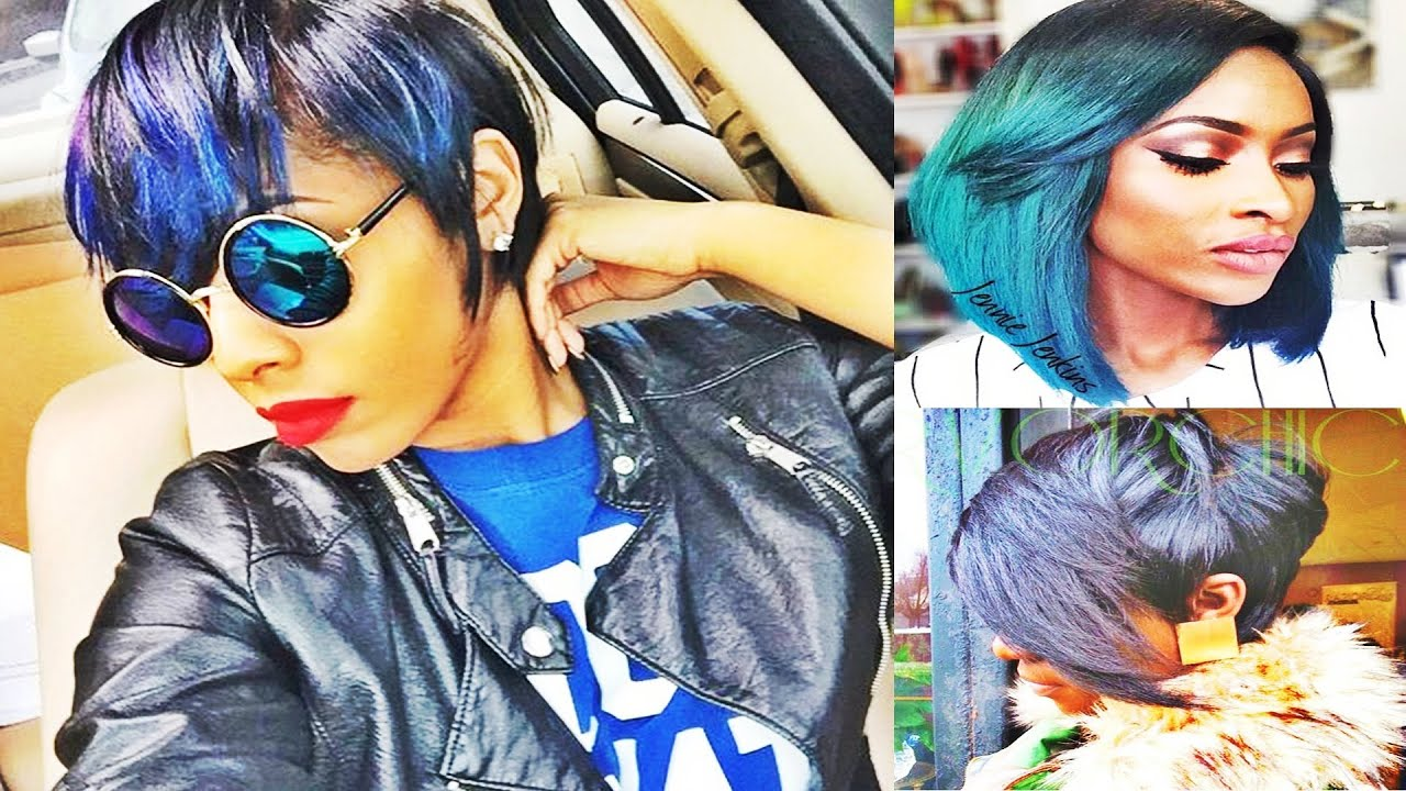 Cropped Bob Haircuts Hairstyles For African American Women Youtube