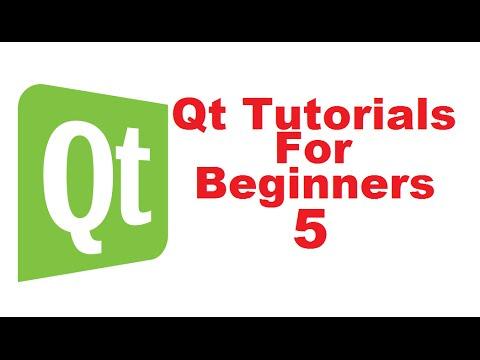 Qt Tutorials For Beginners 5 - Qt Signal and slots