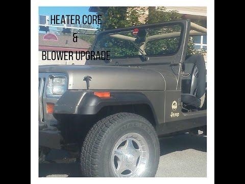 Jeep Wrangler YJ Heater Core & Blower Upgrade