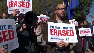 LGBTQ group rallies in front of White House